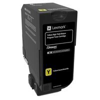 Lexmark cartridge: 12K gele retourprogramma tonercartridge (CS725) - Geel