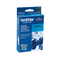 Brother inktcartridge: LC-980C Inktcartridge cyan - Cyaan