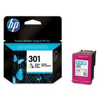 HP inktcartridge: 301 3-pack kleur voor o.a Deskjet 1050A & 2050A - Cyaan, Magenta, Geel