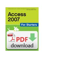 O'Reilly algemene utilitie: Access 2007 for Starters: The Missing Manual - PDF formaat