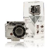 König actiesport camera: 1920 x 1080, 8 MP, AVI, JPG, Micro SD, 1000 mAh, 58 g - Zwart, Zilver