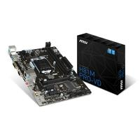 MSI H81M PRO-VD - Motherboard - micro ATX - LGA1150 Socket - H81 - USB 3.0 - Gigabit LAN - onboard graphics (CPU required) - HD Audio (8-channel)