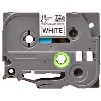 Brother labelprinter tape: TZe-S241 - 18 mm zwart op witte tape gelamineerd sterk klevend (8 m)