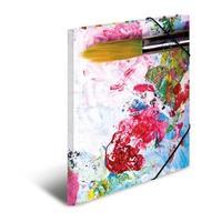 HERMA map: Elasticated folder A4 cardboard silks - Multi kleuren