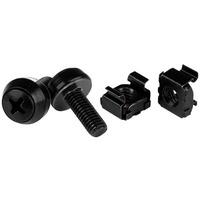 StarTech.com M6 Screws & Cage Nuts - 100 Pack Black (CABSCREWM62B)