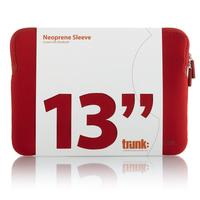 "Trunk laptoptas: 13"" Macbook/Macbook Air sleeve - Rood"