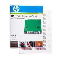Hewlett Packard Enterprise barcode label: HP LTO4 Ultrium WORM Bar Code Label Pack