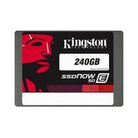Kingston Technology SSD: SSDNow E50 240GB - Zwart, Grijs, Rood, Wit