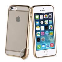 Muvit mobile phone case: Case Apple iPhone 5s/se, gold, transparent, 40g - Goud, Transparant