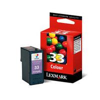 Lexmark inktcartridge: #33 Colour Print Cartridge - Cyaan, Magenta, Geel