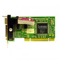 Brainboxes interfaceadapter: 1 Port RS232 Low Profile PCI Serial Card with LPT Parallel Printer Port - Groen