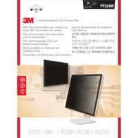 3M schermfilter: PF324W Omkaderde privacyfilter voor lcd-/crt-breedbeeldscherm voor desktop - Zwart, Doorschijnend