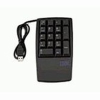 Lenovo toetsenbord: Keyboard NON 17keys numeric USB black - Zwart