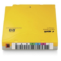Hewlett Packard Enterprise datatape: HP LTO-3 Ultrium 800GB WORM Labeled Data Cartridge 20 Pack - Geel