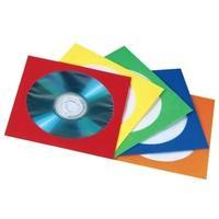 1x100 Hama CD  Papierhoezen kleurrijk assortiment      78369