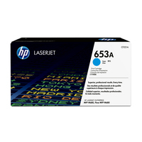 HP toner: 653A originele cyaan LaserJet tonercartridge