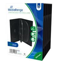 MediaRange : 5-Pack DVD Cases for 5 Discs, Black - Zwart