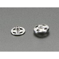 Adafruit : Sewable Snaps, 5mm, 24 pcs - Grijs