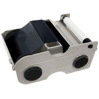 Fargo Standard Black monochrome ribbon cartridge with cleaning roller Printerlint - Zwart