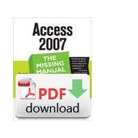 O'Reilly algemene utilitie: Access 2007: The Missing Manual - PDF formaat