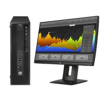 HP pc: Z Workstation bundel: Z240 SFF 4Core + Z24nf monitor  - Zwart