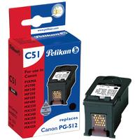 Pelikan inktcartridge: PG-512 BK - Zwart