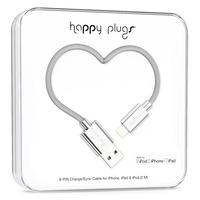 Happy Plugs 2m, Lightning - USB - Zilver
