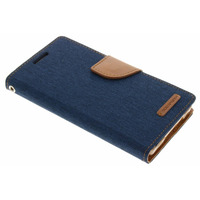 Canvas Diary Booktype Samsung Galaxy A5 - Blauw / Blue Mobile phone case