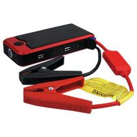 Schwaiger powerbank: Lithium Polymer, 12000 mAh, 2 x USB, 2.1A - Zwart, Rood