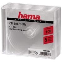 Hama Cd-Box Transparant - 5 stuks