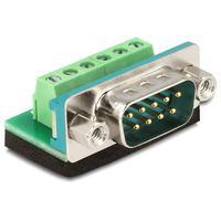 DeLOCK schroefbare 9p SUB-D connector mannelijk