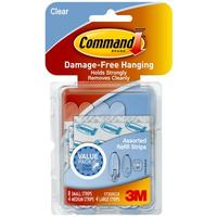 3M sticker: Clear Assorted Refill Strips - Transparant