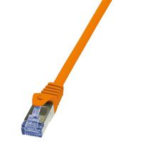 LogiLink netwerkkabel: 1m, Cat6A - Oranje