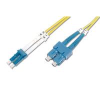 Digitus fiber optic kabel: SC (APC) to LC (APC), Singlemode 09/125 µ, Duplex, 1m - Multi kleuren