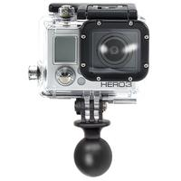 "Dane-Elec 2.54 cm (1"") Diameter Ball w/ Custom GoPro Hero Adapter camera-ophangaccessoire - Zwart"
