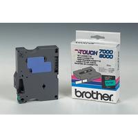 Brother labelprinter tape: Gelamineerd tape - 12mm, zwart/groen