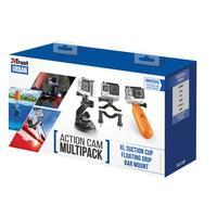 Trust Multipack: suction cup/bar mount/floating hand grip - Zwart, Oranje