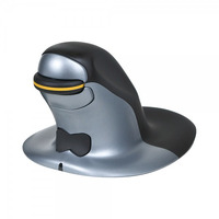 Posturite Penguin Ambidextrous Vertical computermuis - Zwart, Blauw