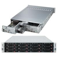 Supermicro server barebone: SuperServer 6027TR-DTFRF - Zwart