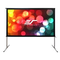 Elite Screens projectiescherm: Yard Master 2 Dual - Aluminium, Zwart, Wit