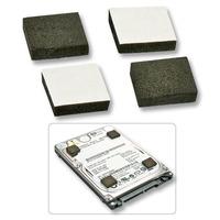 Lindy Computerkast onderdeel: Self-adhesive Foam Pads - Zwart