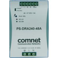 ComNet power supply unit: 240W, 90-375V, 47/63Hz, 4A, 124.5x83.5x123.6mm, 1.38kg, Grey/Blue - Blauw, Grijs