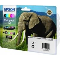 Epson inktcartridge: Multipack 6-colours 24 Claria Photo HD Ink - Zwart, Cyaan, Lichtyaan, Lichtmagenta, Magenta, Geel