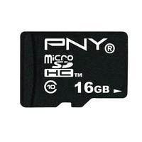 PNY flashgeheugen: 16GB microSDHC Class 10 - Zwart
