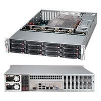 "Supermicro behuizing: SuperChassis 826BE16-R920LPB, Rack 2U, 12x 3.5"" SAS / SATA Hot-Swap, EATX, 920W, Black - Zwart"