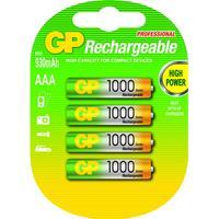 GP Batteries batterij: NiMH rechargeable batteries AAA - Multi kleuren