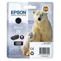 Epson inktcartridge: Singlepack Black 26 Claria Premium Ink - Zwart