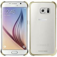 Samsung mobile phone case: Clear Cover voor Galaxy S6 - Goud, Transparant