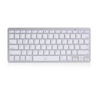Ewent toetsenbord: Ultradun Bluetooth Keyboard - US lay-out () - Zilver, Wit, QWERTY