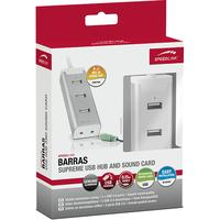 Speedlink, BARRAS Supreme USB Port - Sound Card Combination (Zilver)